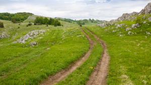 Walking path mountains
